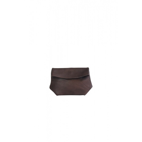 Small Taupe Leather Purse