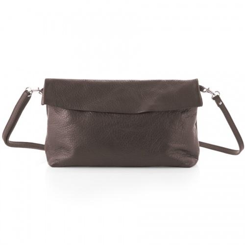 Taupe Leather Shoulder Bag