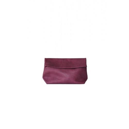 Medium Purple Leather Purse