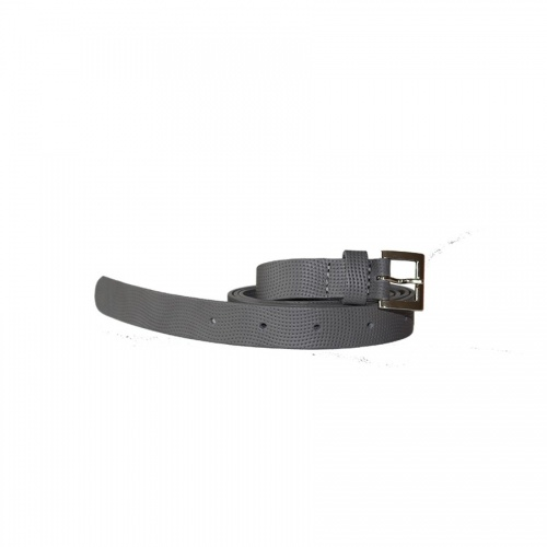 Perforated Lazy Grey Leather Belt