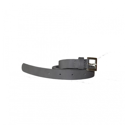 Ceinture Lazy Grey en Cuir Perforé