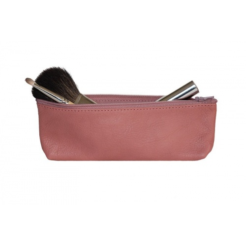 Old PInk Leather Pencil Case