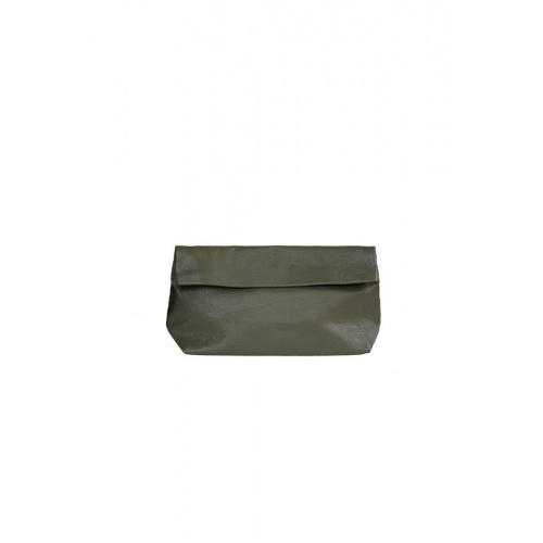 Medium Khaki Leather Purse