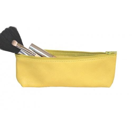 Acheter Yellow Leather Pencil Case