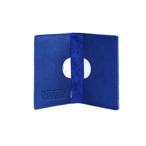 Blue Leather Card Holder