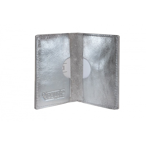 Acheter Silver Leather Card Holder
