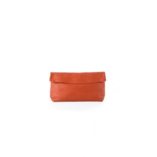 Medium Orange Leather Purse