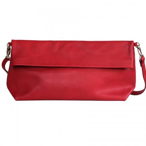Acheter Red Leather XL Shoulder Bag