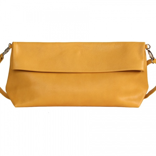 Mustard Leather XL Shoulder Bag