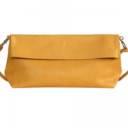 Acheter Mustard Leather XL Shoulder Bag