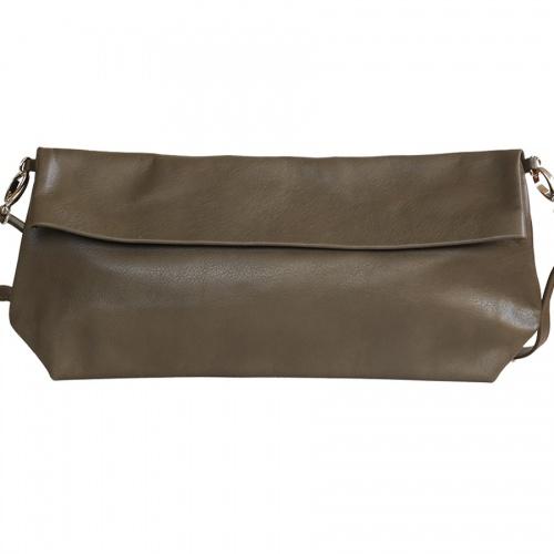 Acheter Khaki Leather XL Shoulder Bag