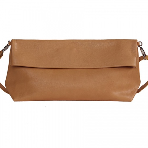 Camel Leather XL Shoulder Bag