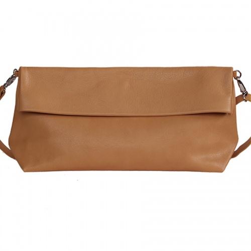 Acheter Camel Leather XL Shoulder Bag