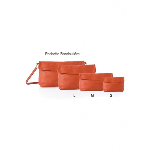 Ripauste: Pochette Large Orange | Bags,Bags > Clutches -  Hiphunters Shop