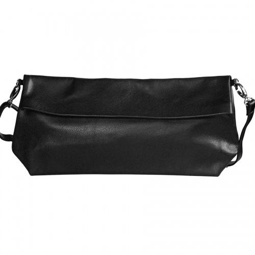 Black Leather XL Shoulder Bag