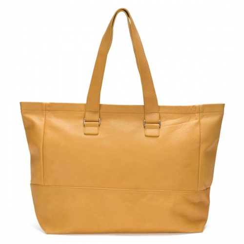 Mustard Leather Tote
