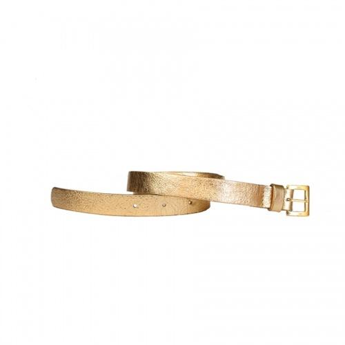 Golden Leather Belt