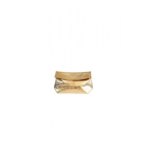 Small Golden Leather Purse