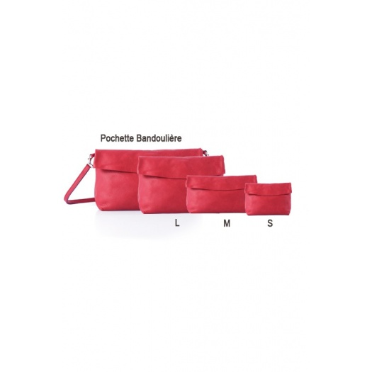 Ripauste: Pochette Large Rouge | Bags,Bags > Clutches -  Hiphunters Shop
