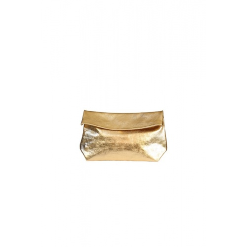 Medium Golden Leather Purse