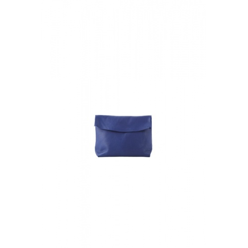 Small Blue Leather Purse