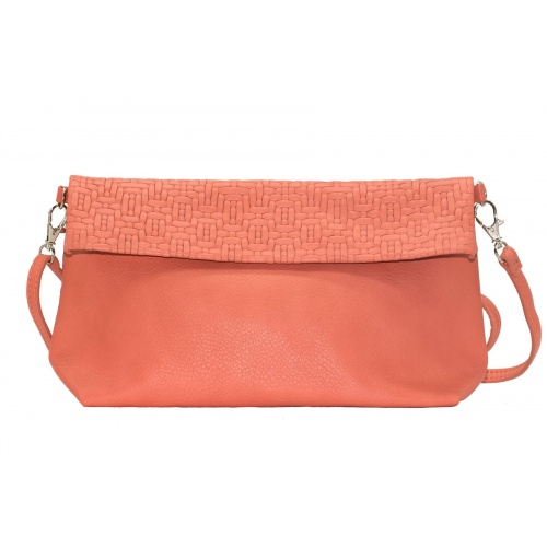 Acheter Coral Leather Shoulder Bag