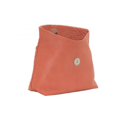 Pochette Large Tressée Corail
