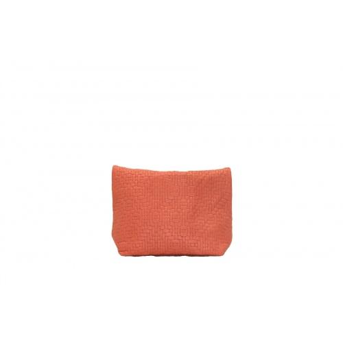 Pochette Small Tressée Corail
