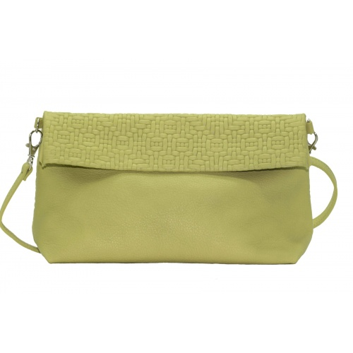 Acheter Soft Green Leather Shoulder Bag