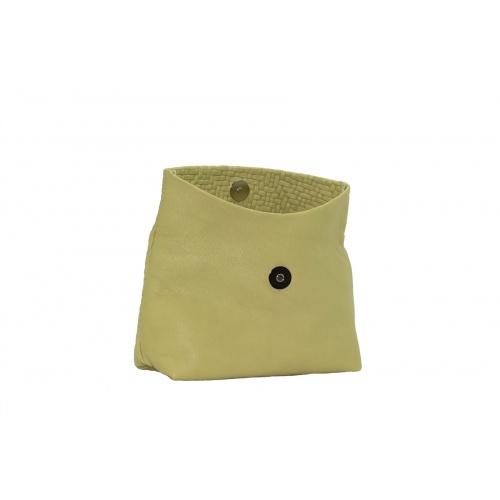 Pochette Medium Tressée Vert Tendre