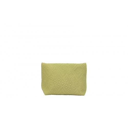 Pochette Small Tressée Vert Tendre
