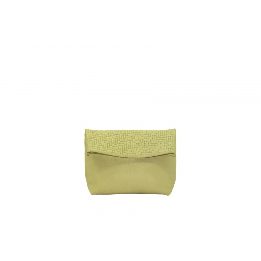 Small Soft Green Leather Purse