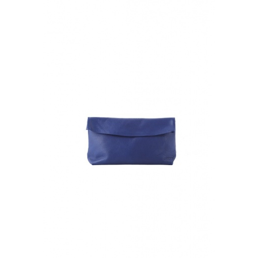 Medium Blue Leather Purse