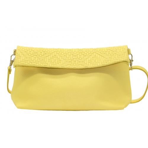 Acheter Iris Yellow Leather Shoulder Bag