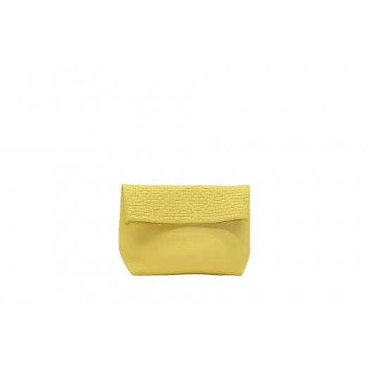 Small Iris Yellow Leather Purse