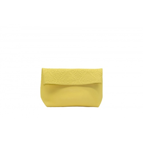 Acheter Medium Soft Yellow Leather Purse