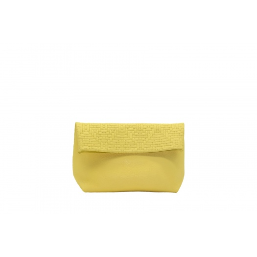 Medium Soft Yellow Leather Purse
