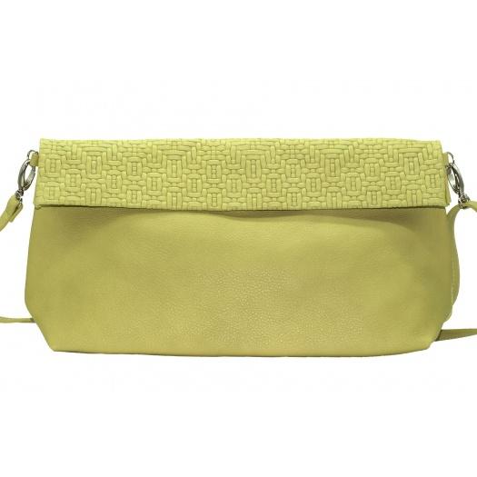 Soft Green Leather XL Shoulder Bag
