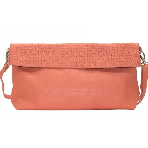 Coral Leather XL Shoulder Bag