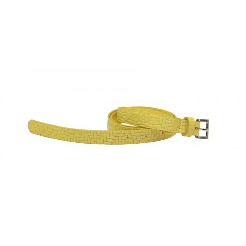 Iris Yellow Leather Belt