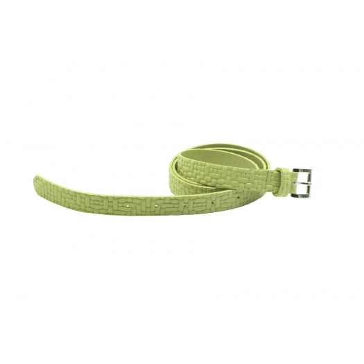 Soft green Leather Belt
