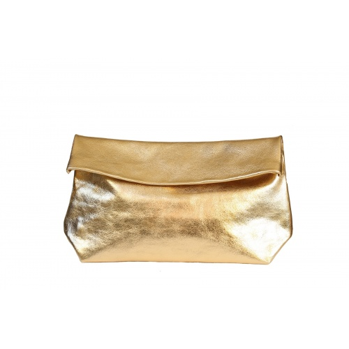 Acheter Large Golden Leather Clutch