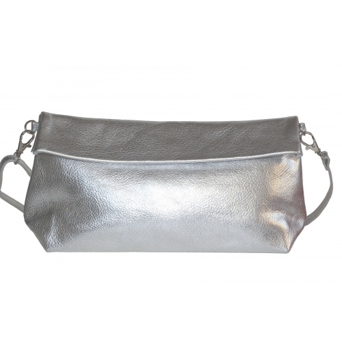 Acheter Silver Leather Shoulder Bag
