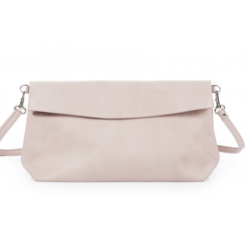 Light Pink Leather Shoulder Bag