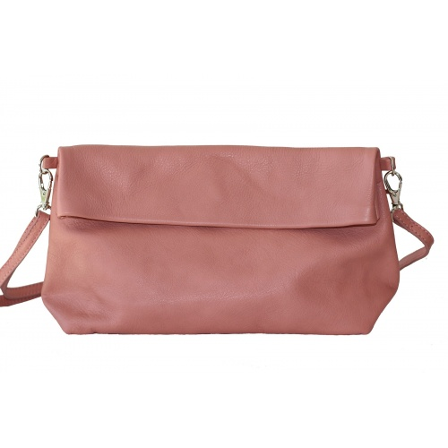 Old Pink Leather Shoulder Bag