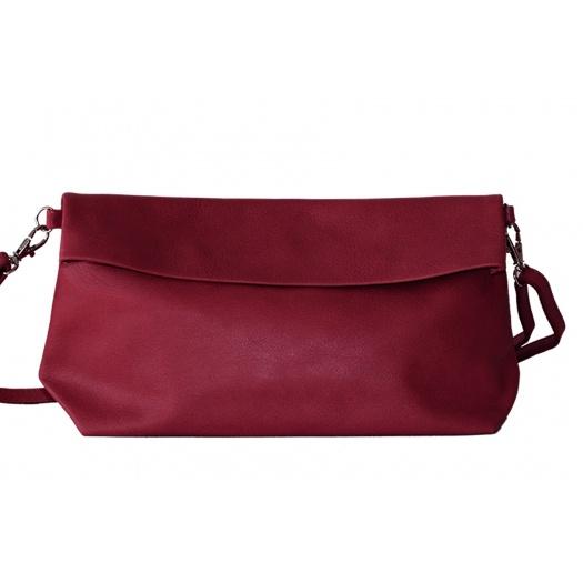 Burgundy Leather Shoulder Bag