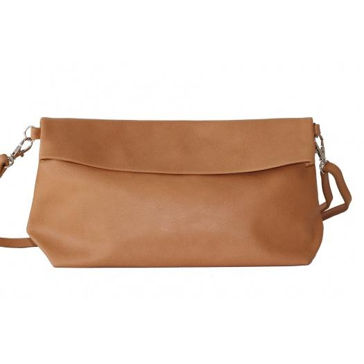 Camel Leather Shoulder Bag