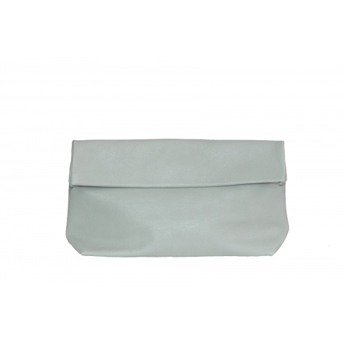 Acheter Large Green Almond Leather Clutch