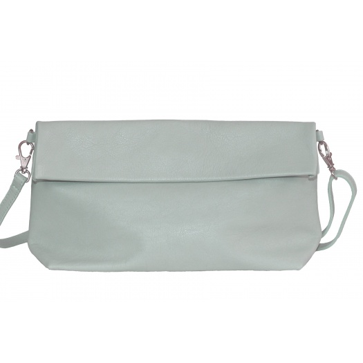 Green Almond Leather Shoulder Bag