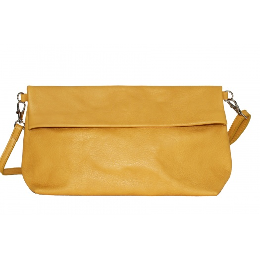 Mustard Leather Shoulder Bag